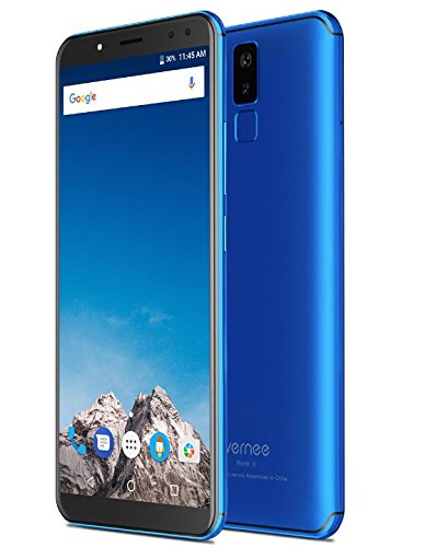 Vernee X Mobile phone 4G LTE 6GB RAM 128GB ROM 6.0 inch 18:9 Smartphone Face ID Android 7 Phone 6200mAh twincamera Octa Core Cell phones (Blue)