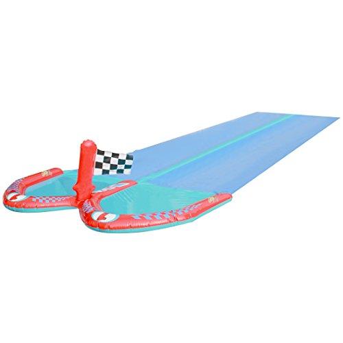 Ultrakidz Doppel-Wasserrutsche / Wasserbahn mit 2 Boards, Länge 610 cm