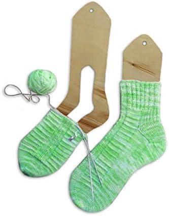Medium Knitters Pride KP800120 KP800120 Aqua Sock Blockers