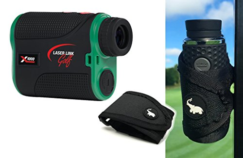 laser-link-xl1000-golf-laser-rangefinder-with-magnetic-golf-cart-mount-black-bundle