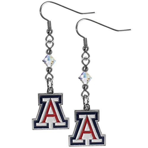 Siskiyou NCAA Arizona Wildcats Crystal Dangle Earrings