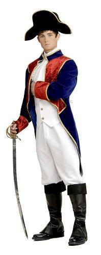 Marquis De Lafayette Costume (Unisex Adult Marquis De Lafayette Revolutionary War Uniform Medium Multi)