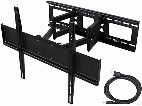 VideoSecu Articulating TV Wall Mount for LG 32 37 39 40 42 47 50 55 58 60 62 63 65 70 LED-LCD HDTV Smart TV MW365B2H C08