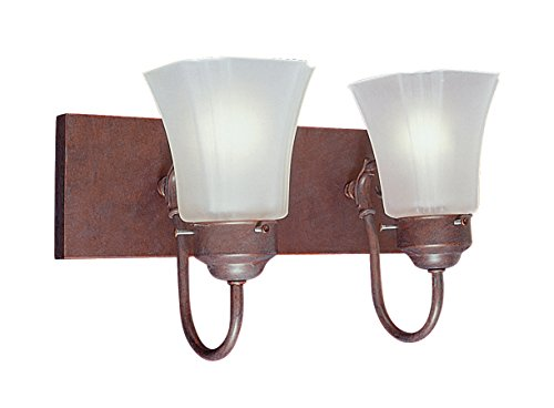 (Livex Lighting 1272K-18 Limited 2-Light Bath Light, Weathered Brick)