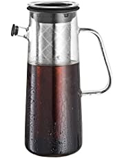 """Osaka, Glass Cold Brew Coffee Maker - Fresh Cold-Brew Extract With A Unique Airtight Pitcher (Stays Fresh For Over A Week) 1 Liter Capacity. """"Okunoin"""""""
