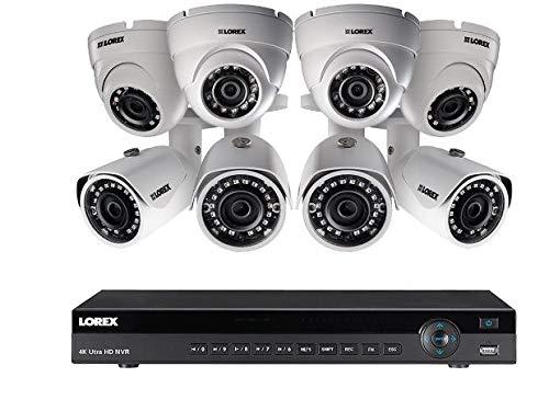 Lorex 16 Channel 4K NVR 8 IP Cameras Security System NR9163