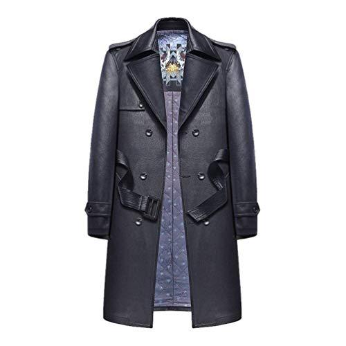 Jackets Men's Leather Men's Parka Leather Huixin Winter Pu Coats Coat Marine Windbreaker Warm Jacket Mens Apparel Faux Outwear Leather xApzqYw6