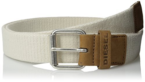 Diesel Men's Bireal Belt, Ivory, 75