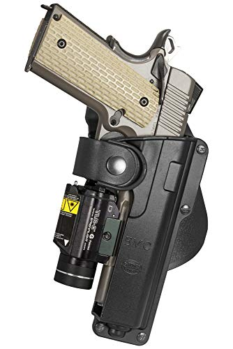 Fobus Roto Tactical Speed Holster Paddle RH T1911RP Full size1911 holds Handgun with Laser or Light