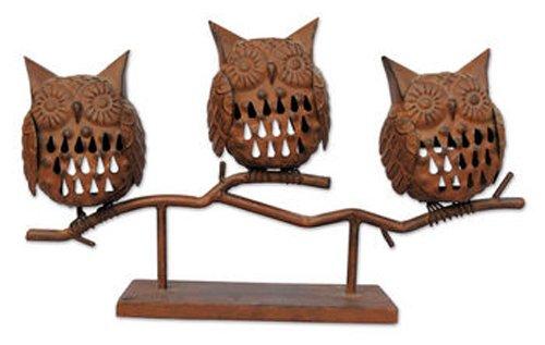 Sunset Vista Designs Harvest Blessings Owls Candle Holders]()