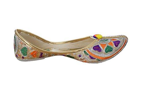 Creations De Con Étnico Rexine Kalra Mujer Zapatos Tradicional Multicolor Trabajo Secuencia La 1RcqdAc