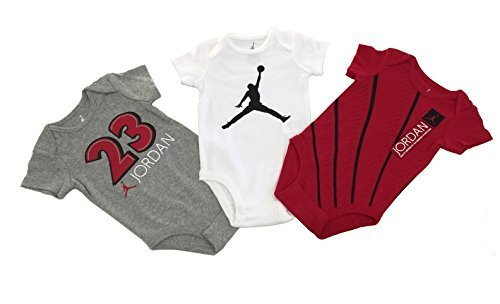 Nike Michael Jordan Infant Layette Bodysuit 3 Pcs Sets 3/6M