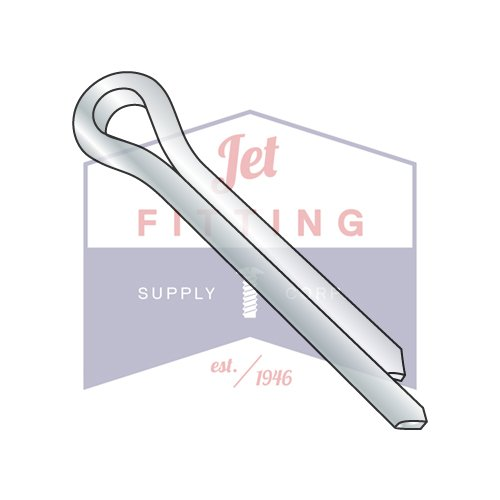 1/8 x 1/2 Cotter Pin Zinc (QUANTITY: 3000 pcs) Made in USA by Jet Fitting & Supply Corp