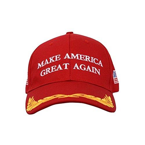 Make America Great Again Donald Trump MAGA Baseball Cap Hat (Red Flag Olive ()