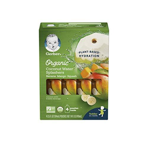 Gerber Organic Coconut Water Splashers Banana Mango Squash, 14 fl oz