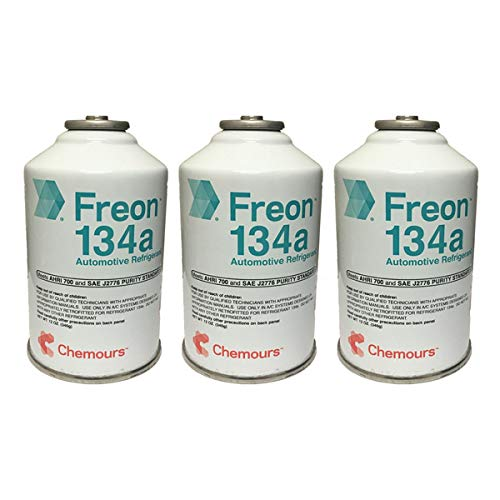 DuPont 3 Cans R-134a Suva A/C Automotive Refrigerant/Freon R134a (12oz Cans)