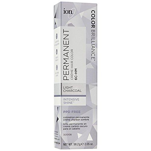 Light Charcoal - Ion 6C-HM Light Charcoal Permanent Creme Hair Color 6C-HM Light Charcoal