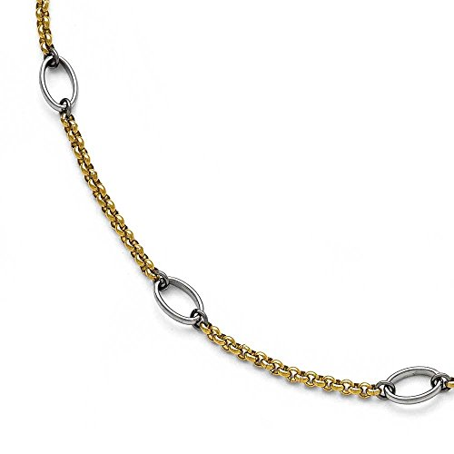 Chisel-Stainless-Steel-Polished-Gold-IP-plated-Anklet