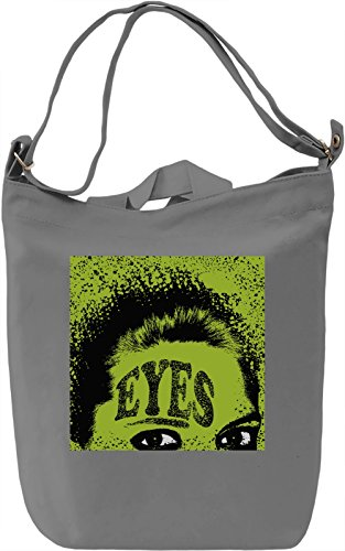 Eyes Borsa Giornaliera Canvas Canvas Day Bag| 100% Premium Cotton Canvas| DTG Printing|
