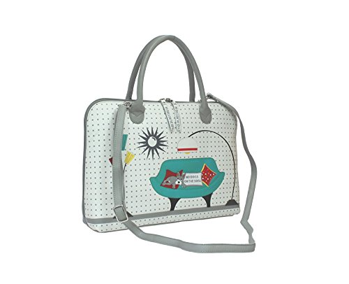 Mala de piel BEAU colección de cuero Grab Bag - correa de hombro desmontable 796_89 gris gris