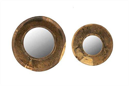 Creative Co-Op Vintage Wood Bowl Frame, Set of 2