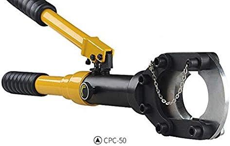 CGOLDENWALL Φ50mm油圧式ケーブルカッター 手動ワイヤカッター 銅アルミケーブル、外装ケーブル等の切断に一年安心保証付き