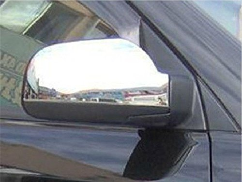 Amooca Full Chrome exterior Rearview Mirror housing Trim Molding Covers Kit For 2006-2008 Hyundai Tucson 2pcs