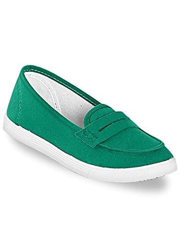 Kelly Slip-on Sneaker, Grønn, Størrelse 9-1 / 2 (bred)
