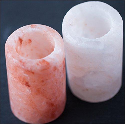 Salt Shot Glasses : Pure Himalayan Pink Salt Tequila Shot Glass Set - 100% Premium Food Grade Himalayan Salt - No Fillers or Binders - Exceeds FDA and European Requirements | Cestari Kitchen (2 pack) by Cestari Kitchen