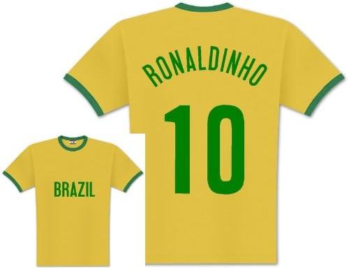 World of Football Player Camiseta Brasil Ronaldinho: Amazon.es: Deportes y aire libre