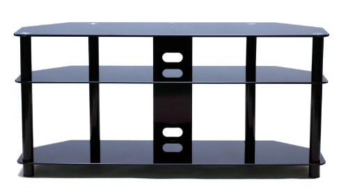 TransDeco LCD LED TV Stand with Casters for 30-60 inch Flat Panel LCD Television