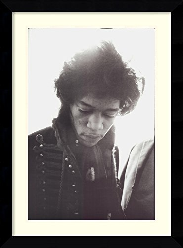 Framed Art Print 'Jimi Hendrix' by Alain Dister