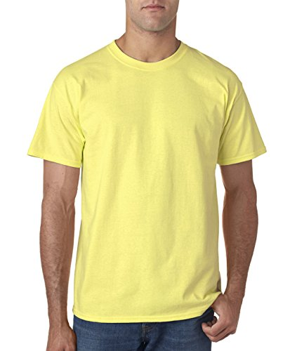 Gildan mens Ultra Cotton 6 oz. T-Shirt(G200)-CORNSILK-3XL Silk Cotton Crewneck T-shirt