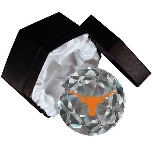 NCAA Texas Longhorns Logo  on a 4-Inch High Brillance Diamond Cut Crystal (Brilliance Diamond Cut Glass)