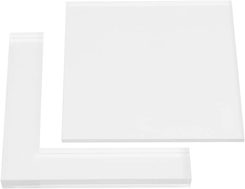 2pcs Stamp Positioner Kit Rubber Acrylic Stamp Coloring Board Locating Clear DIY Acrylic Pad