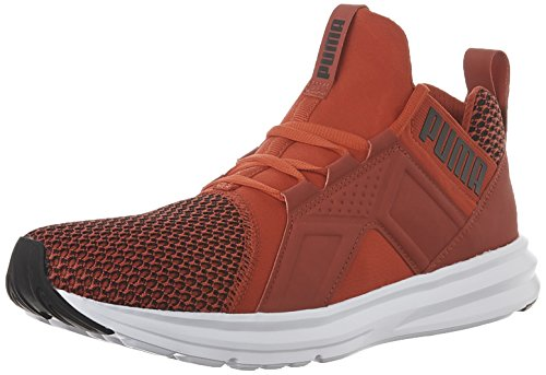 Enzo Suede Sneakers - PUMA Men's Enzo Shift Cross-Trainer Shoe, High Risk Red B, 10 M US