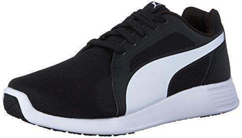 Puma Men's ST Trainer Evo Running Shoe, Black/White, 9.5 M US