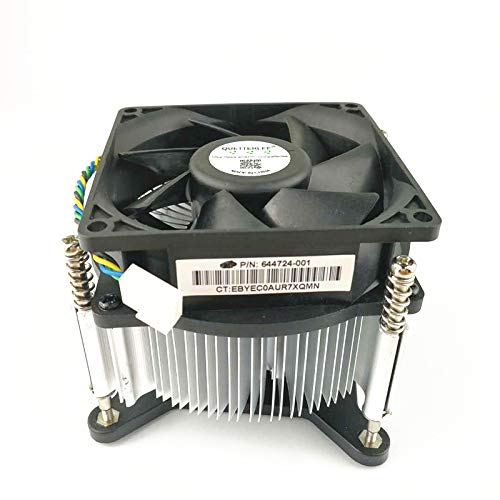 QUETTERLEE Replacement New for HP 644724-001 CPU Heatsink Fan Pro 3000 3010 3400 3405 3500 3515 3380 A6000 P7 H8 P7-1010 H8-1010 Envy 700-216 750-114 Intel 1150 1155 1156 1151 Series 4-Pin Fan