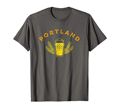 Portland Craft Beer Drinker's Retro Vintage Style T Shirt