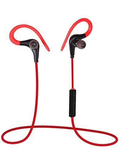 Bluetooth Headset Lanbailan Earhook Headphones Wireless Bluetooth Sport&Running Stereo with Noise Cancelling Earphones Earbuds