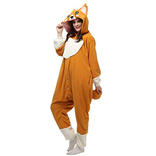 [YiChen Cartoon Jumpsuits Pajamas Science Fiction Movie kigurumi Cosplay Costumes Little Fox(Cartoon] (Little Girl Fox Costumes)