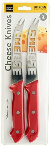 Shell Cheese Knife - Professional 10-Inch Cheese Knives, 2-Pack (Red, Purple, Green)