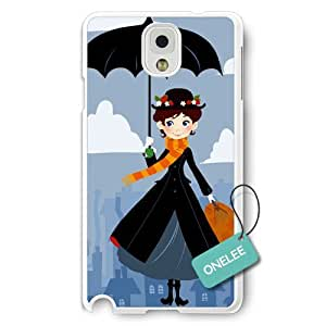 Onelee(TM) - Personalized Mary Poppins White Plastic Samsung Galaxy Note 3 Case & Cover - White 12