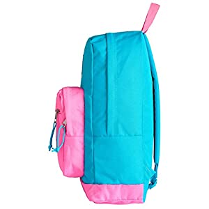 JanSport City Scout Backpack - Mammoth Blue/Fluorescent Pink / 18H x 13W x 8.5D