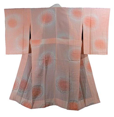 リサイクル 着物 襦袢 袖無双 華文 ぼかし染め 正絹 裄62cm 身丈122cm