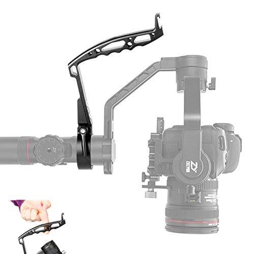AgimbalGear DH09 Handheld Grip Holder Cold Shoe Mount Connect Monitor, Light, Mic Comfortable Metal Handle Allows Low Position Videography Compatible with Crane 2/ Crane Plus FEIYU AK 2000 4000 Gimbal