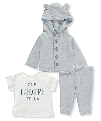 (Carter's Baby Boys' 3 Piece Bear Hoodie Set Preemie)