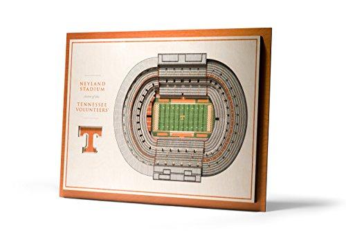 NCAA Tennessee Volunteers 5-Layer Stadiumviews 3D Wall Art (Tennessee Vols Stadium)