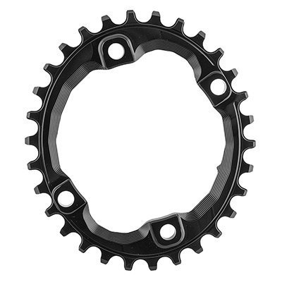 ABSOLUTE BLACK Shimano Oval Traction Chainring Black/96 BCD (M8000 XT), 30t