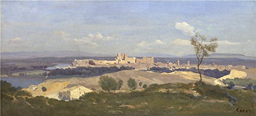 'Jean Baptiste Camille Corot Avignon From The West ' Oil Painting, 12 (Series 2 Leg Magazine Base)